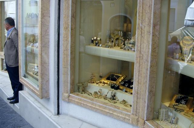 Zlatarne v središču Caprija.