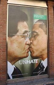 Benettonova zadnja kampanja iz leta 2011, naslovljena UNHATE