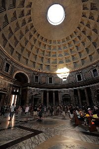 notranjost Panteona v Rimu