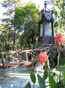 Vodna ura v parku Villa Borghese