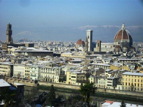 Zasnežene Firence.